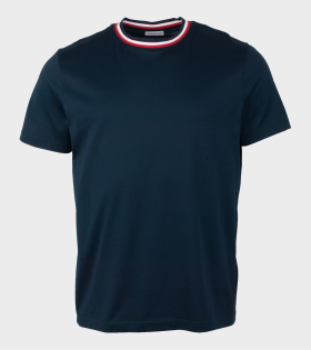 Moncler Maglia Neckline T-Shirt Navy Blue - dr. Adams