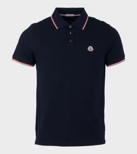 Moncler Maglia Polo Shirt Navy Blue - dr. Adams