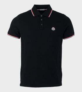 Moncler Maglia Polo Shirt Black - dr. Adams