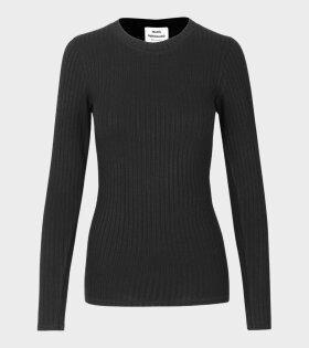 Tuba Rib T-shirt Black