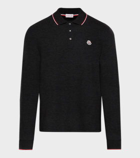 Moncler Maglia Polo Longsleeved  T-shirt Black - dr. Adams