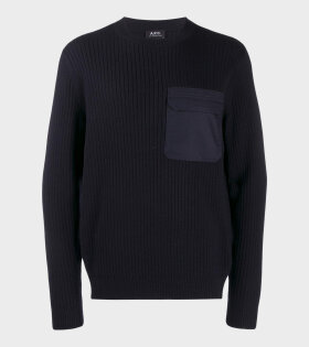 A.P.C - Pull Bluestack Knit Dark Navy