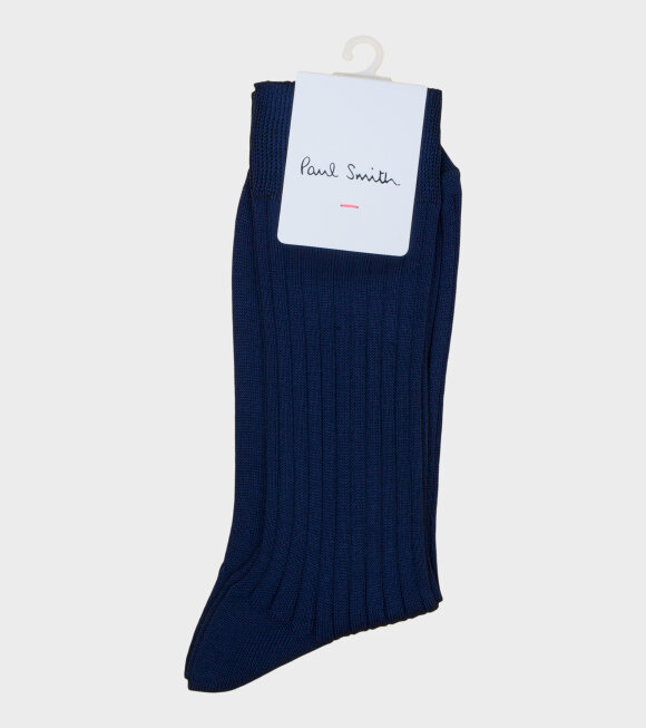 Paul Smith - Mens Socks Plain Mercerise Navy