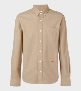 Embroidered Shirt Brown