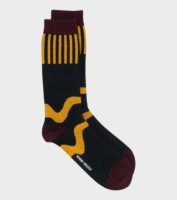 Henrik Vibskov - Wiggle Sock Wool Black