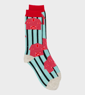 Farm Sock Mint Blue