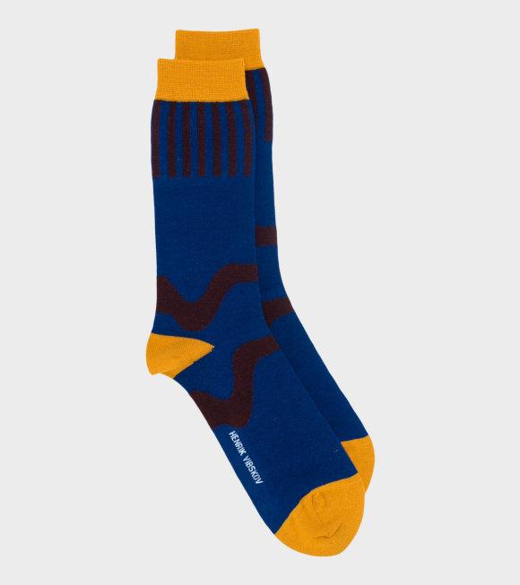 Henrik Vibskov - Wiggle Sock Wool Dark Navy