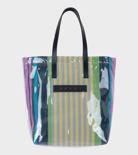 Marni Vinyl Shopping Bag Green/Blue/Yellow - dr. Adams