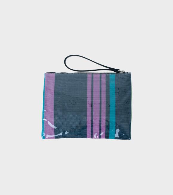 Marni - Striped Pochett Clutch Blue/Purple/Green