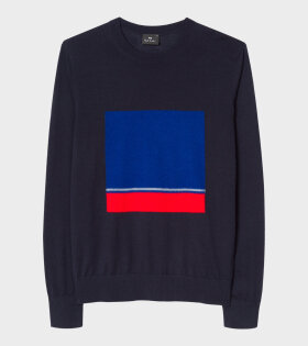 Paul Smith Navy Wool-Blend Sweater Dark Navy - dr. Adams