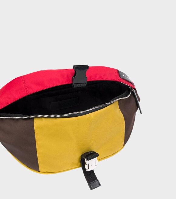 Marni - Belt Bag in Nylon Mustard/Brown/Red
