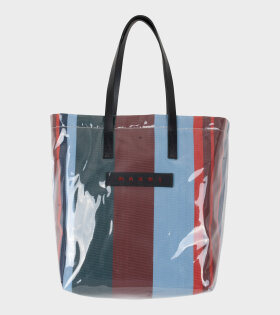 Marni Vinyl Shopping Bag Blue/Brown/Red/Green - dr. Adams