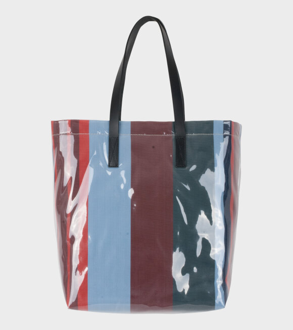 Marni - Vinyl Shopping Bag Blue/Brown/Red/Green