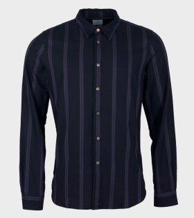 Paul Smith Mens Tailored Shirt Print Blue - dr. Adams