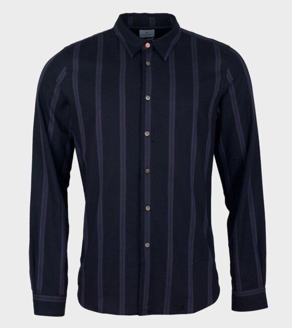 Paul Smith - Mens Tailored Shirt Print Blue