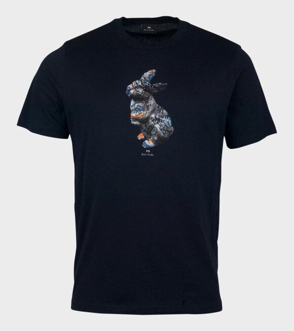 Paul Smith - Mens Reg Fit T-Shirt Rabit Navy