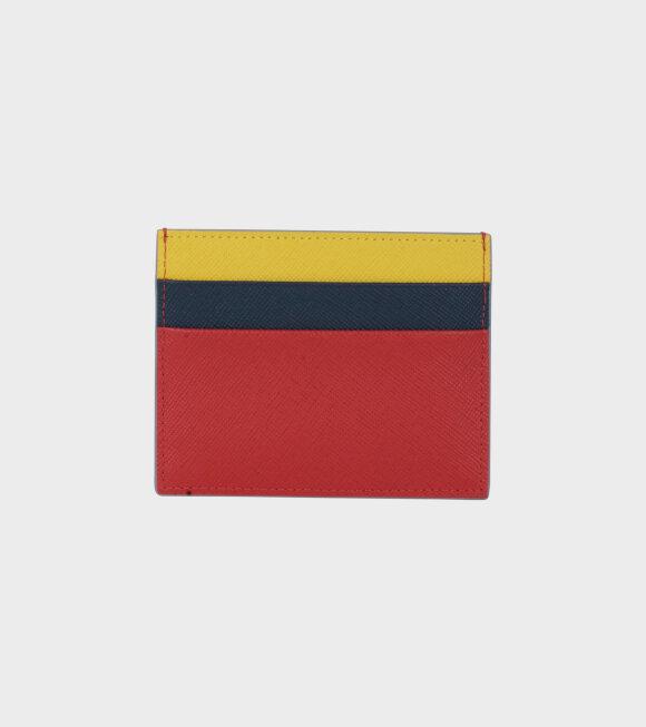 Marni - Vanitosi Cardholder Black/Red/Yellow