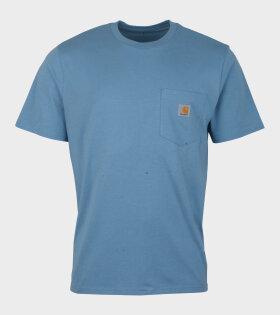 Carhartt S/S Pocket T-shirt Cold Blue - dr. Adams