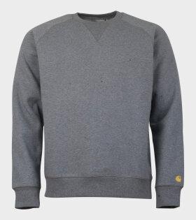 Carhartt WIP Chase Sweatshirt Dark Grey Heather - dr. Adams