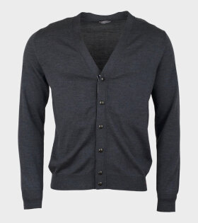 Moncler Maglione Tricot Knitted Cardigan Grey - dr. Adams