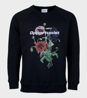 Opportunist Print Sweatshirt Black