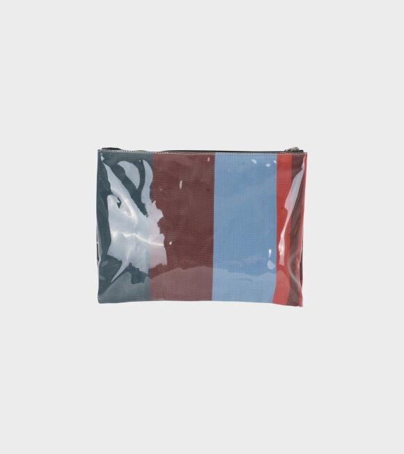 Marni - Striped Pochett Small Brown/Blue/Black