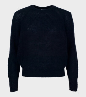 Filippa K - Mohair R-neck Sweater Dark Navy
