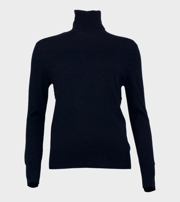 Filippa K - Silk Mix Roller Neck Sweater Dark Navy