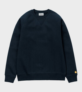 Carhartt WIP Chase Sweat Gold Blue - dr. Adams