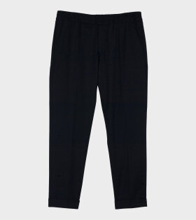 Filippa K M. Terry Cropped Trouser Black - dr. Adams