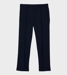 Marni Wool Trousers Dark Navy - dr. Adams