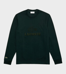 Embroidery Longsleeved T-shirt Green