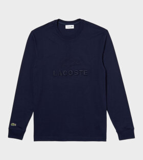 Embroidery Longsleeved T-shirt Navy