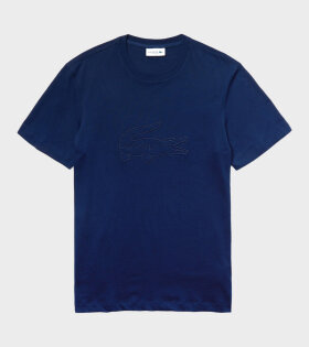 Lacoste Embroidery T-shirt Blue - dr. Adams