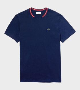 Logo Detail T-shirt Blue