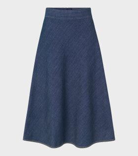 Soft Organic Denim Stelly Skirt Rinse
