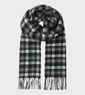 Piza Andrew Check Scarf Black/Green
