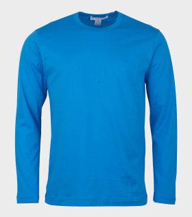 Comme Des Garçons Shirt Longsleeved T-shirt Blue - dr. Adams