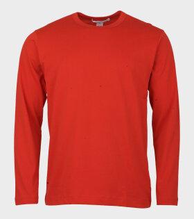 Comme Des Garçons Shirt Longsleeved T-shirt Red - dr. Adams