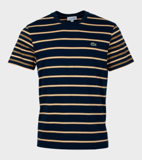 Lacoste Logo T-shirt Blue and Yellow - dr. Adams