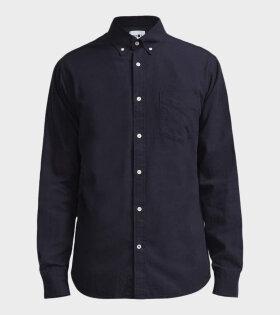 NN07 Levon Shirt Navy Blue - dr. Adams