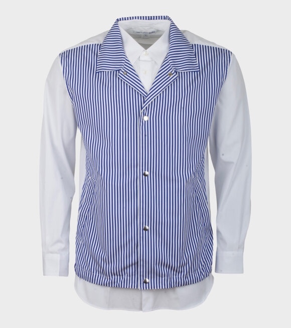Comme des Garcons Shirt - Longsleeved Two Shirt Blue/White