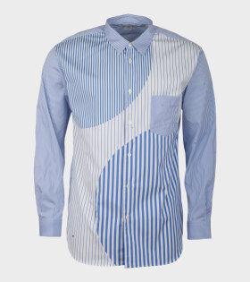 Comme Des Garçons Shirt Longsleeved Shirt Blue/White - dr. Adams