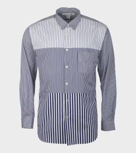 Comme Des Garçons Shirt Longsleeve shirts Blue/White - dr. Adams