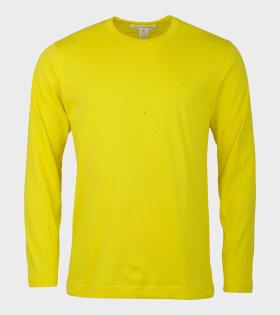 Comme Des Garçons Shirt Longsleeved T-shirt Yellow - dr. Adams