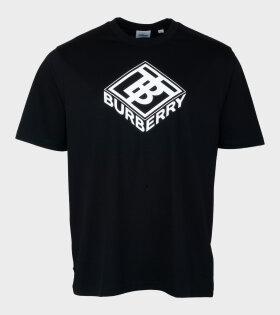 Burberry Ellison Logo T-shirt Black - dr. Adams