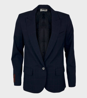 Zadig & Voltaire Viking Carreaux Veste Encre WH Blue - dr. Adams