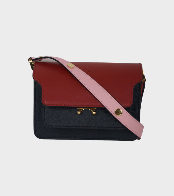 Marni - Mini Trunk Bag Red/Black/Pink