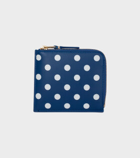 COMME des GARCONS Polka Dot Printed Wallet Blue - dr. Adams