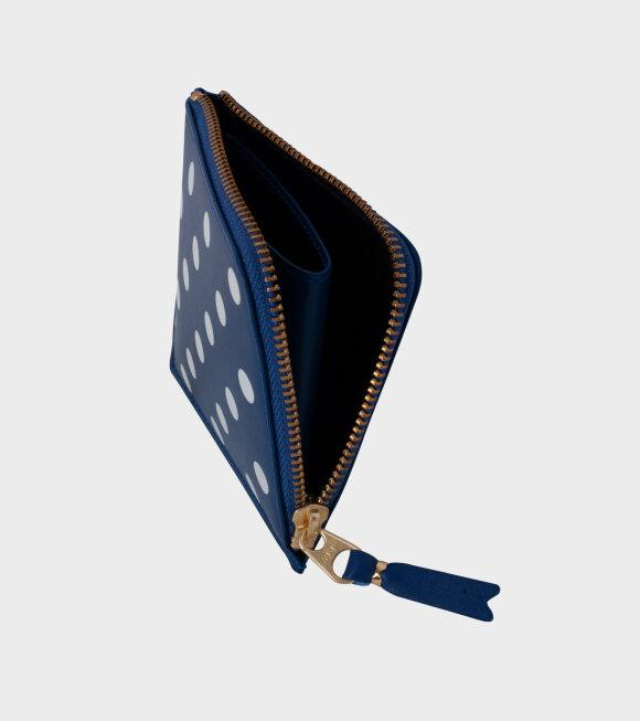 Comme des Garcons Wallet - Polka Dot Printed Wallet Blue